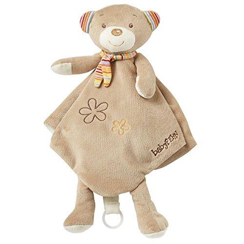 Fehn 160994 Schmusetuch Teddy Deluxe / Stofftier-Schnuffeltuch mit Befestigungsring für Schnuller zum Greifen, Fühlen und Liebhaben für Babys und Kleinkinder ab 0+ Monaten