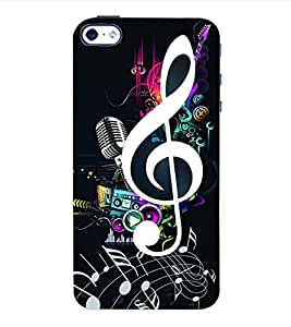 ColourCraft Music Back Case Cover for APPLE IPHONE 4S