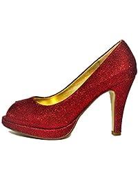 Amazon.es  zapatos mujer tacon plataforma - Último mes   Zapatos de ... df009f7fda45