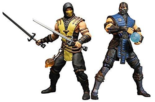mezco-toys-mortal-kombat-x-scorpion-sub-zero-12-action-figures-set-by-mezco