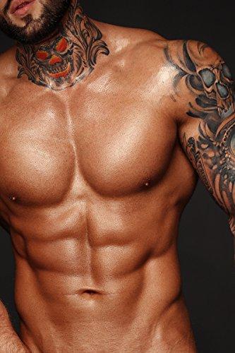 901 - sexy Sixpack, Mann Muskeln Erotik Tattoo Sport nackt Größe 3:2-91.0 cm x 61.0 cm ()