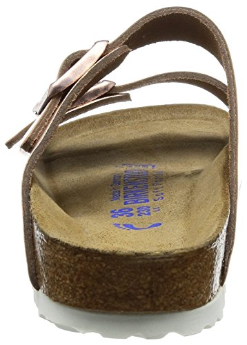 Birkenstock Arizona Leder Softfootbed, Mules femme Or (Metallic Copper/Soft Footbed)