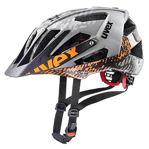 Uvex Quatro MTB Fahrrad Helm grau/schwarz 2019: Größe: 56-60cm