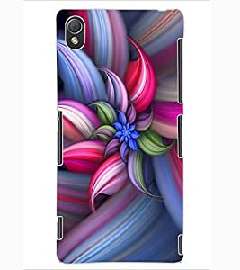 ColourCraft Beautiful Flower Design Back Case Cover for SONY XPERIA Z3