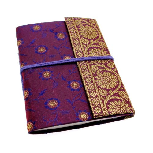 Preisvergleich Produktbild Paper High Sari Notizbuch, Gr. M, 120 x 165 mm violett