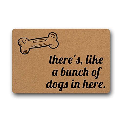 Eureya ist wie eine Reihe von Hunden im Haus-Tür-Matten Fußabtreter Innen/Außen Wohnzimmer Küche Teppich Heimdekoration, 40x 60cm