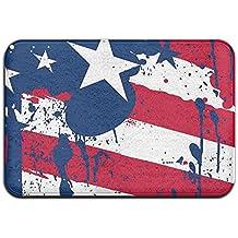 Gotas Splash colores América Bandera antideslizante alfombra alfombrilla de puerta delantera para interiores/puerta delantera/cuarto de baño/cocina