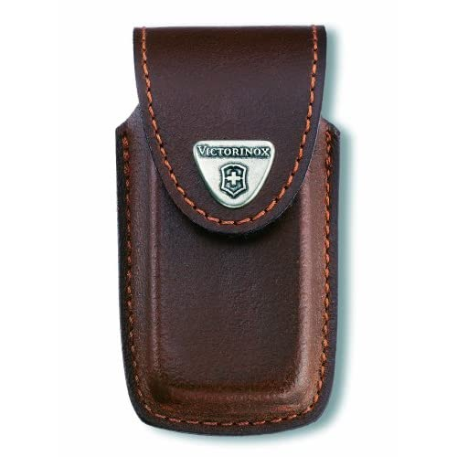 Victorinox Swiss Army Brown Leather Pouch 5-8 Layer