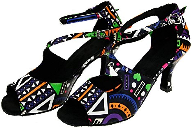 WoHommes 's Imprimé Chaussures Chaussures Chaussures De Danse Latine,Cuir Fond Mou High Heels Chaussures De Danse Salsa Tango Chaussures...B07HCPHFYZParent e39325