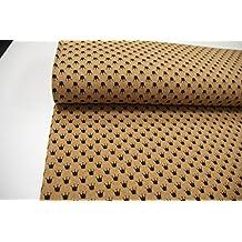 Plástico/50cmx140cm/Niños/mejor Jersey de calidad/Jersey/Verano de sudadera Corona Negro sobre color amarillo jaspeado