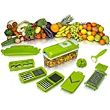 Magikware 12-Piece Vegetable Chopper, Slicer, Cutter, Grater - All In One (Color May Vary)