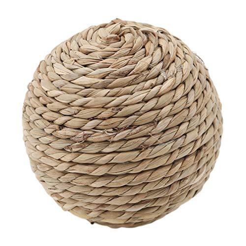 LJSLYJ Vögel papagei Spielzeug DIY zubehör Rattan Ball pet Spielzeug kauen Kaninchen fuß Stroh Ball, 2#