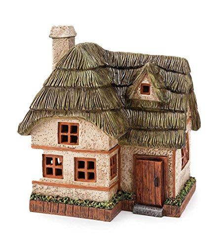 Plow & Hearth Schneepflug & Herzen 55802Solar Powered Miniatur Fairy Cottage