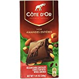 Chocolat au lait belge Bar aux amandes entières caramélisées [PACK DE 1]