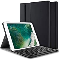 iPad 9.7 Inch 2017 2018/ iPad Air 2/ iPad Air Keyboard Case, Slim Shell Stand Cover with Magnetically Detachable Wireless Bluetooth Keyboard for iPad 6th / 5th Gen, iPad Air 1/2 - Black