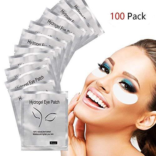Zhichengbosi 100 Paires sous Les Yeux Gel Pads, Non Pelucheux Lash Extension de Coussinets pour Pro Salon et Cils individuels, Gel Yeux Patchs pour DIY Faux Cils Maquillage