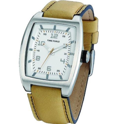 Reloj TIME FORCE UNISEX. Acero. Correa de piel. Mostaza. TF-2917L09