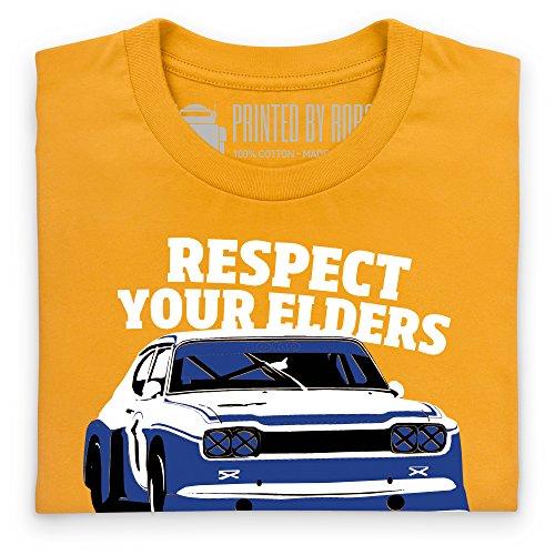 Classic Ford Respect T-Shirt, Herren Gelb
