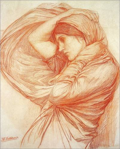 stampa-su-tela-90-x-110-cm-study-for-boreas-di-john-william-waterhouse-bridgeman-images-poster-pront