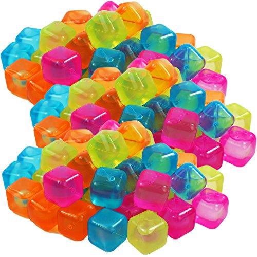 My-goodbuy24 Eiswürfel bunt wiederverwendbar 480 Stück Eiswürfelform Party Kunststoff Dauereiswürfel