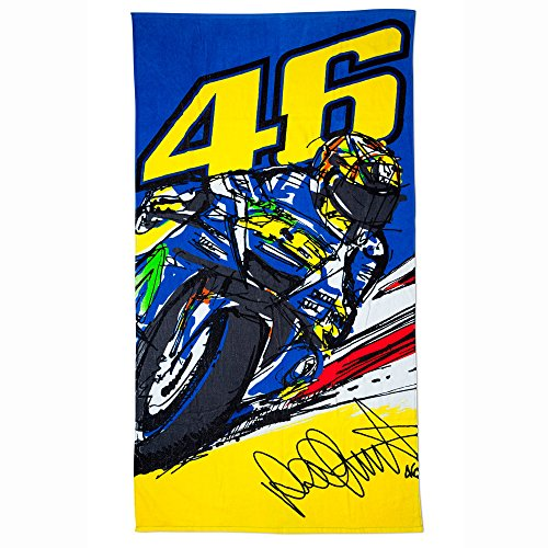 VR46 Rossi Beach Towel Banking Vale, Yellow, One size