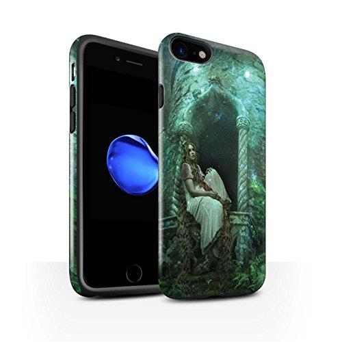 Officiel Elena Dudina Coque / Brillant Robuste Antichoc Etui pour Apple iPhone 8 / Notre Dame Design / Caractère Conte Fées Collection Cheveux Dorés