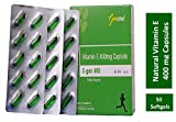 GenOne E-gen 400 nutrition NATURAL Vitamin E Oil Capsule for Skin and Hair