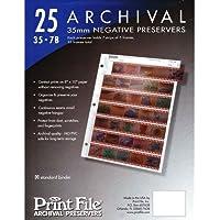 Archivo almacenamiento hojas 35–7b25para 35mm película negativos 7Tiras (25unidades)