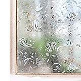 CottonColors Fensterfolie Sichtschutzfolie 3D Dekofolie statisch selbstklebend Anti UV milchglas Fensterfolien 3ft x 9.8 ft (90 x 300 cm)