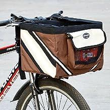 Manillar de Bicicleta de olayer Pequeño Pet Carrier cesta de bicicleta con bolsillos para perro