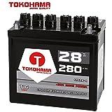 Tokohama Rasentraktor Batterie Aufsitzmäher 28Ah 12V +Pol Links statt 22Ah 24Ah 26Ah 12N24-4