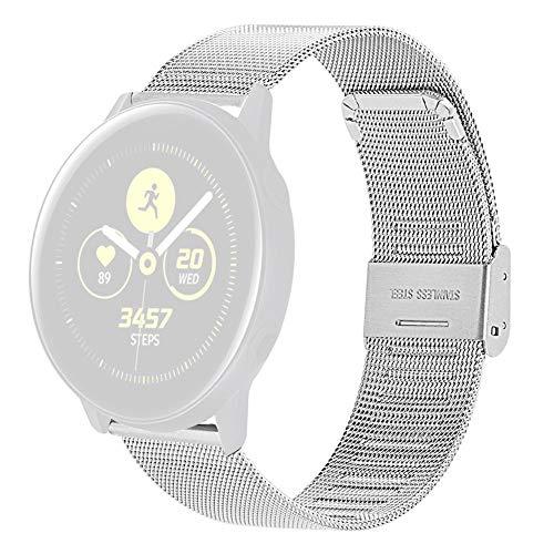 jinclonder Ersatzbänder Armband für Samsung Galaxy Uhr Edelstahlgewebe Uhrenarmband Armband