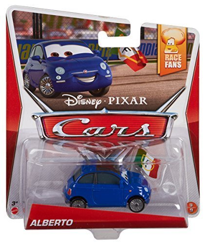 Disney/Pixar Cars, Race Fans Die-Cast Vehicle, Alberto #9/9, 1:55 Scale by Mattel