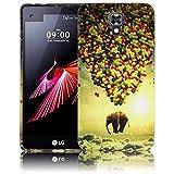 LG X Screen fliegender Elefant Silikon Schutz-Hülle weiche Tasche Cover Case Bumper Etui Flip smartphone handy backcover Schutzhülle Handyhülle thematys®
