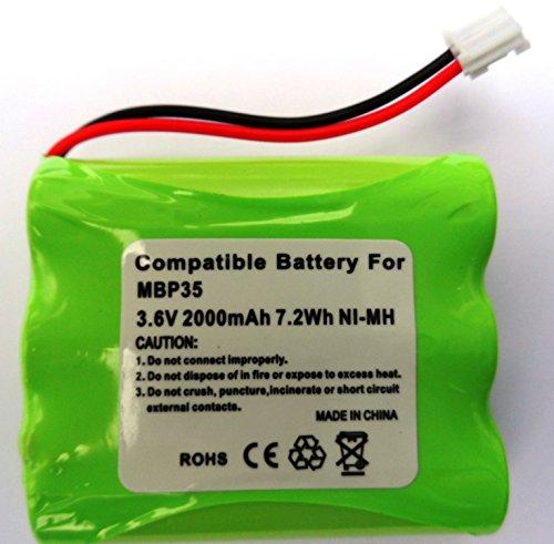 Batterie de remplacement pour Motorola Système de surveillance de bébé mbp35/mbp35bw, 2000 mAh, 3,6 V