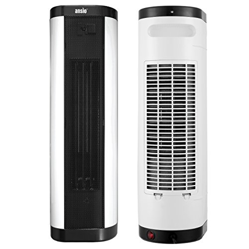 51VV5dD7MBL. SS500  - ANSIO 2000W Oscillating PTC Ceramic Tower Heater with Remote Control Upright/Flatbed Heater Internal Oscillation 24 Hour Timer & 2 Heat Settings Thermostat and Safety Cut-Off - 2 Years Warranty