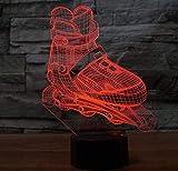 Kronleuchter Nordic Modern3D Led Roller Skating Modellierung Nachtlicht 7 Farben Ändern Aggressive Inline Schreibtischlampe Junge Schlafzimmer Nacht Dekor Leuchten