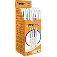 BIC Cristal Up Ballpoint Pens - Assorted Fashion Colours, Box of 20