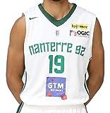 Nike Basket Nanterre 92 Réplica Domicile 2017-2018 Maillot de Basketball Homme, Blanc/Vert, FR : M (Taille Fabricant : M)