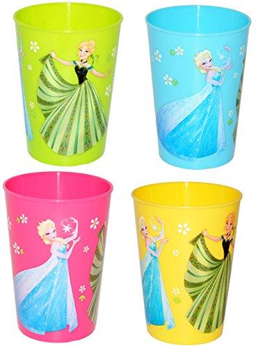 10-Stck--Trinkbecher-Becher-FROZEN-Disney-die-Eisknigin-bunte-Farben-280-ml-auch-als-Zahnputzbecher-Malbecher-Kche-Essen-Kind-vllig-unverfroren-Prinzessin-Elsa-Anna-Arendelle-Olaf-fr-Mdchen-Jungen-Zah
