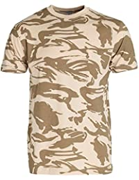 Military Desert Camouflage Cotton T-Shirt Mens XL