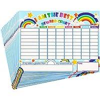 Outus Tablas de Recompensa de Rápido Secado Tablas de Estrellas de Comportamiento Responsabilidad Aprendizaje Autoadhesivas para Niños en Casa y Aprendizaje en Aula, 14,5 x 11 Pulgadas (15 Piezas)