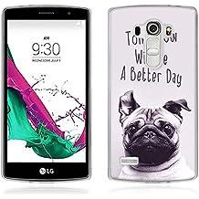 Funda LG G4 Beat - Fubaoda - Alta Calidad Serie de la pintura, [perro] Gel de Silicona TPU, Fina, Flexible, Resistente a los arañazos en su parte trasera, Amortigua los golpes, funda protectora anti-golpes para LG G4 Beat / G4s (H735)