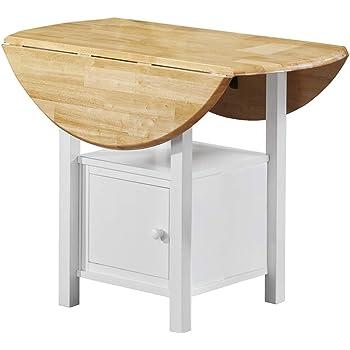 Loft24 madeira esstisch wei klappbar esszimmertisch rund for Esstisch ausklappbar