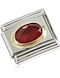 Nomination Composable Classic (Mujer piedras preciosas ágata rojo) Acero Inoxidable teilvergoldet Ágata Rojo de 03050228