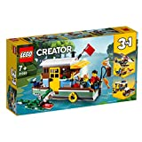 LEGO 31093 Creator 3in1 Riverside Houseboat Seaplane and Fishing Village Building Set with Toy Boat, Plane, 2 Minifigures and Crocodile Figure, Toys for Kids 7 Years Old and Older