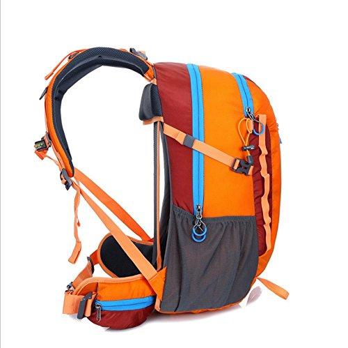 Xiuxiandianju 36L - 55L outdoor wasserdichte Anti-Riss-Bergsteigen Tasche Männer und Frauen wandern camping Reise Reisen Rucksack Orange