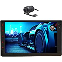 High Def 7 inch Pure Android 4.2 Kitkat Tablet Universal Double Din In Dash Car NO DVD Player GPS Navigation Stereo AM/FM Radio Support Bluetooth 3G Wifi Airplay/iPhone 6/5S/5C/5 DVR AV-IN 1080P 7 Color Button as Gift(HD backup camera as gift) Capactive Touch Screen WIFI/USB/SD/MP3/MP4 Player In dash Headunit