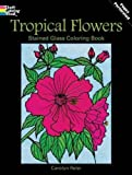 Tropical Flowers Stained Glass Coloring Book (Dover Nature Stained Glass Coloring Book)