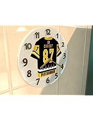 SIDNEY CROSBY SID THE KID - HORLOGE MURALE HOCKEY SUR GLACE PITTSBURGH PENGUINS NHL - EDITION LIMITEE LES LEGENDES DU SPORT